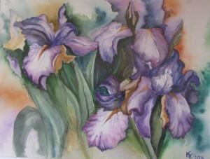Vera Banič Vukadin_akvarel_Irisi